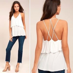 Lulu's Everything You Want White Tank Top
